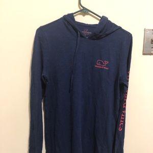 Vineyard Vines long sleeve hooded shirt.